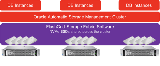 High performance storage for Oracle RAC with no storage array, only standard servers of your choice.